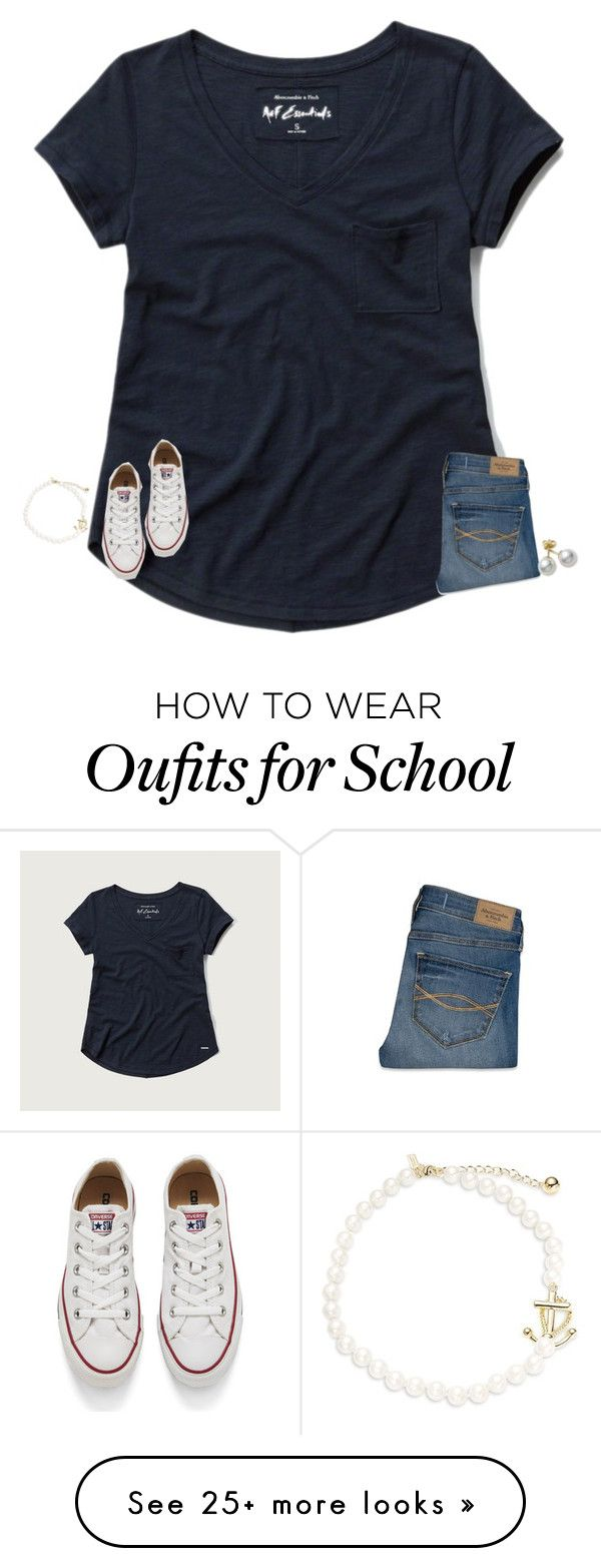 """last day of school tomorrow!"" by texasgirlfashion on Polyvore featuring Abercrombie & Fitch, Converse, Mikimoto and Kate Spade"