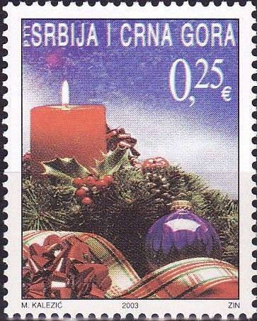 Stamp: Christmas (Serbia and Montenegro) (Christmas) Mi:YU 3167,Sn:ME 122