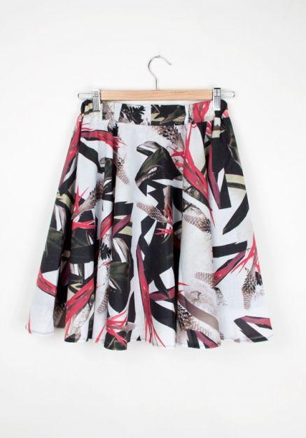 #rh Metallica Skirt (botanic print)  http://www.allfound-store.com/metallica-skirt-botanic