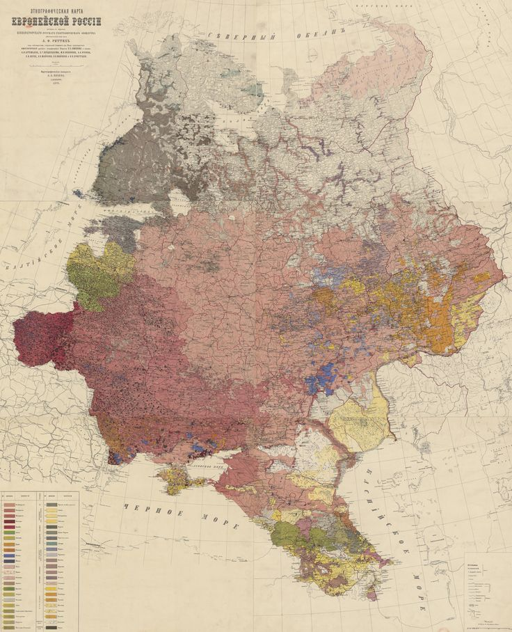 An 1875 ethnographic map of European Russia