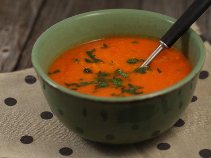 Supa+de+rosii+si+ardei+copti