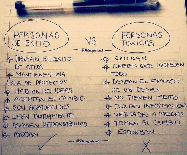 Personas Exitosas vs Personas Toxicas