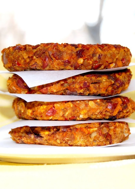 Holy Cow!: Bean and Oats Burgers. Easy to substitute types of beans in this one. Also has no peppers.