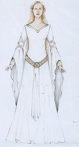 Eowyn's white wool gown