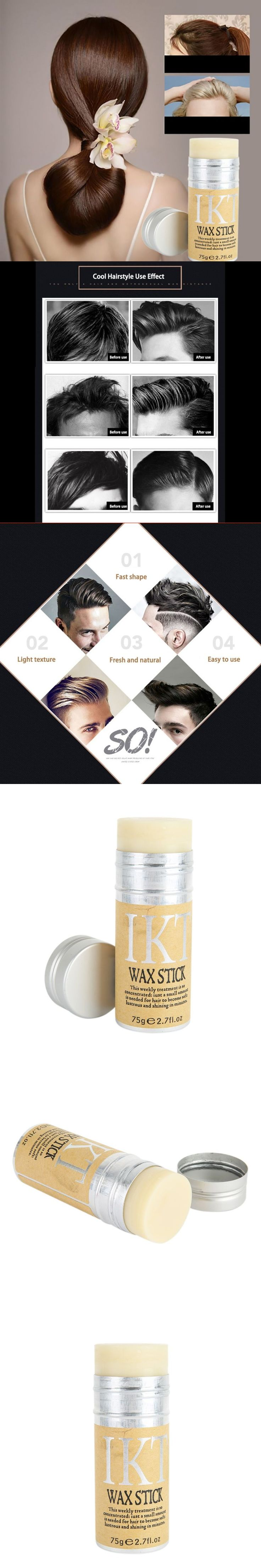 Styling Pomade Stick Rapid fixed Repair Hair Smell Fresh not oily Male Female Hair Wax Rod Broken Hair Finishing M2