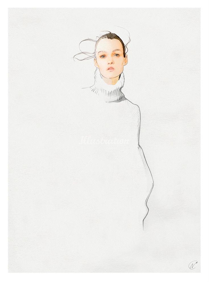 Fashion illustration - chic minimal fashion drawing // Nuno DaCosta