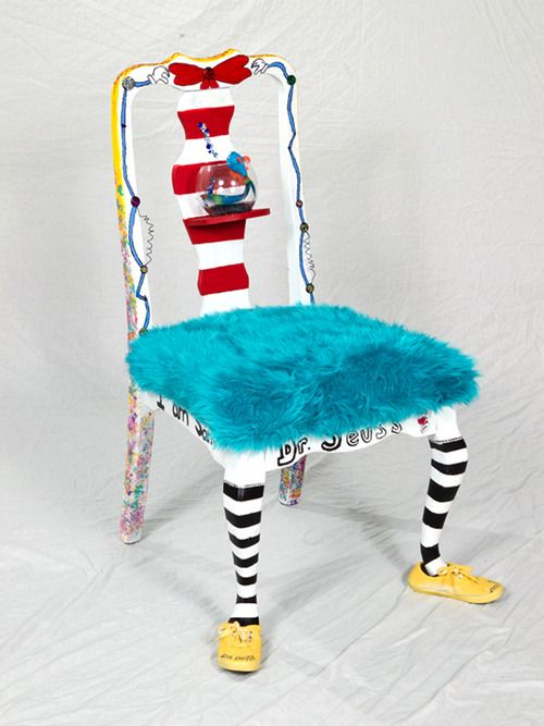 Living Color--a Dr Suess whimsy chair