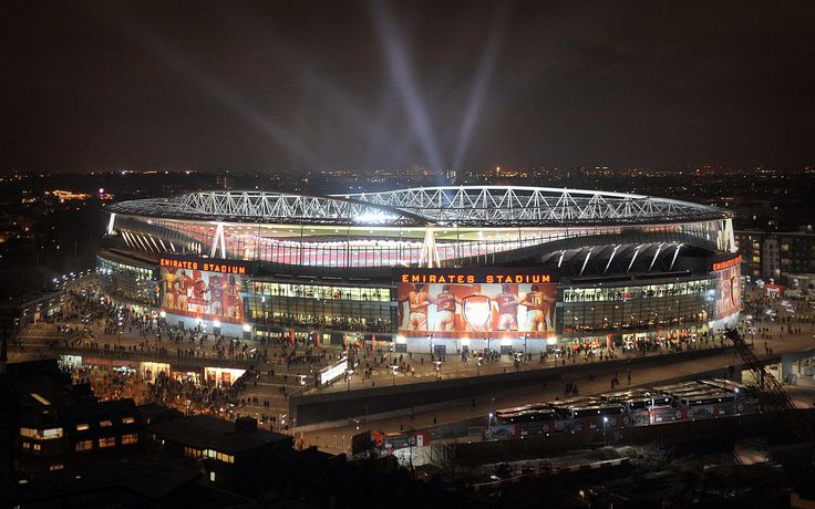 the emirates stadium, london - home to the mighty gunners, arsenal football club :) <3