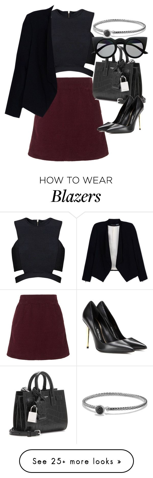 """Untitled #3268"" by glitter-the-world on Polyvore featuring moda, Topshop, Posh Girl, Alice + Olivia, Yves Saint Laurent, Tom Ford, Retrò e David Yurman"