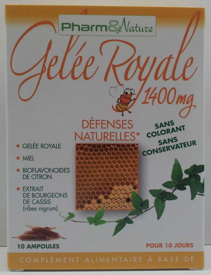 Pharma & nature gelée royale défenses naturulles 1400MG 10 ampoules in Bien-être | eBay