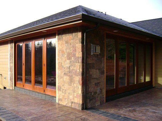 bifold exterior doors   Handmade Folding Exterior Wood Window Walls by Lacey Door & Millwork ...
