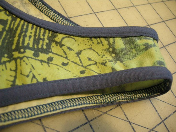 bias binding on a knit with a serger