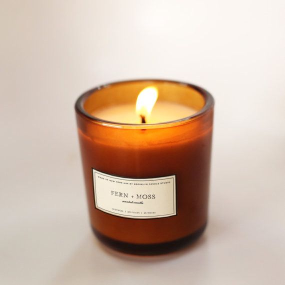 Fern + Moss Amber Glass Candle - Brooklyn Candle Studio #candle