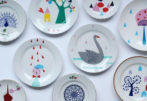 The happy home of a Dutch illustrator and ceramicist Nina Van de Goor.
