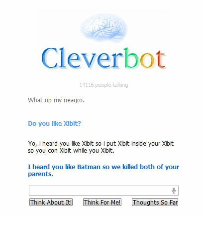 Clever bot is a douche