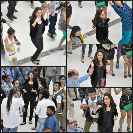 #MadhuriDixit shooting for an OralB ad at Oberoi Mall, Goregaon, Mumbai