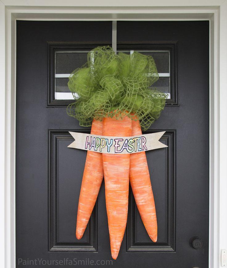 Easter Door Carrots Tutorial