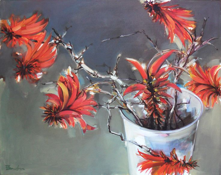 Erythrina Painting 800mm x 1000mm - Inside Out Home Boutique