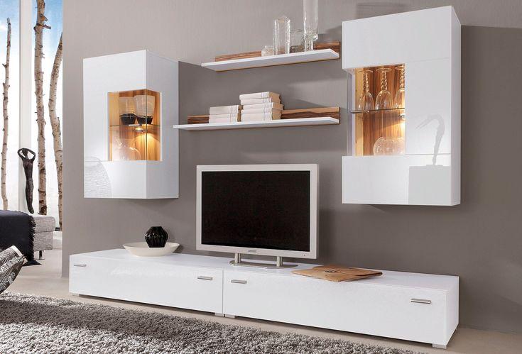 25 best ideas about wohnwand wei hochglanz on pinterest wohnwand hochglanz hochglanz m bel. Black Bedroom Furniture Sets. Home Design Ideas