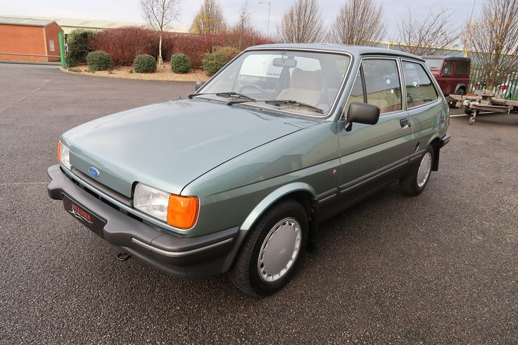 1984 Ford Fiesta Ghia 1.3 3 door in Jade Green only 6,000 miles at Woldside Classic and Sports Car in Louth, Lincolnshire, UK.