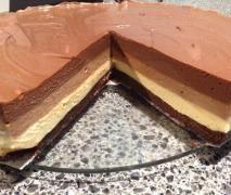 Triple Chocolate Layer Cheesecake