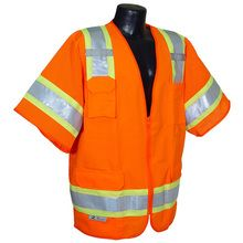Radians Hi Vis Orange Surveyor Vest Two Tone Class 3 SV63O | Hi Vis Safety Direct, will be any price , call us for direct pricing !