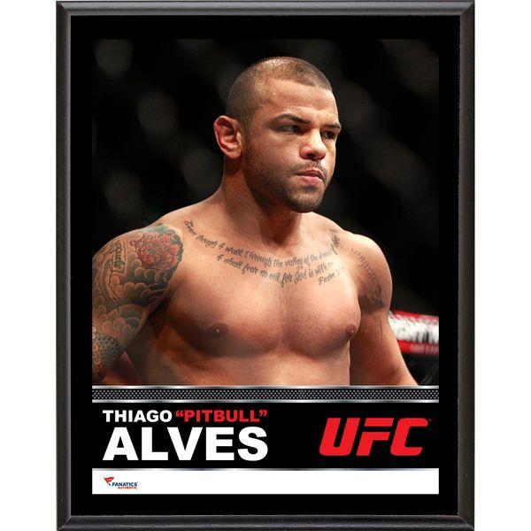 Thiago Alves Ultimate Fighting Championship Fanatics Authentic 10.5'' x 13'' Sublimated Plaque - $29.99