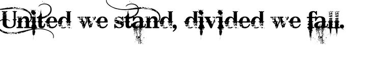 Image result for united we stand divided we fall