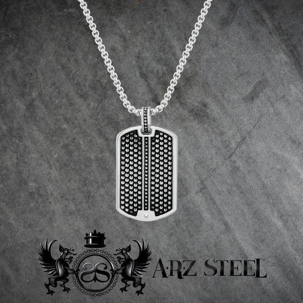 C'est le temps d'oser les colliers avec acier noir dans Arz Steel