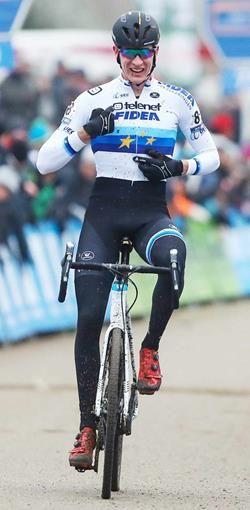 Toon Aerts, Europees kampioen veldrijden bij de elite.