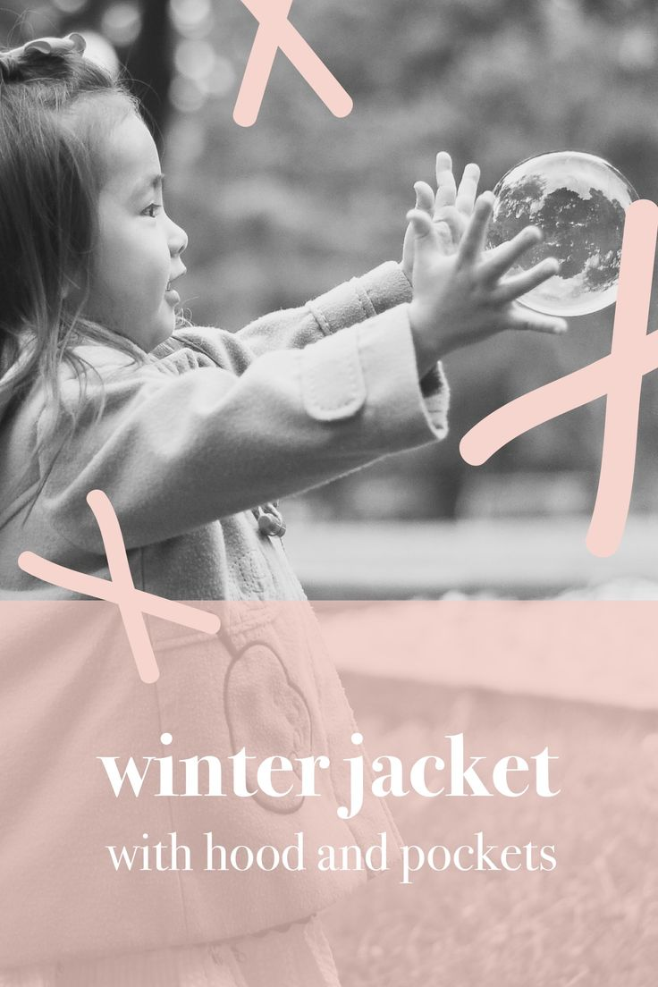 Winter jacket with hood and pockets.  #madewithover