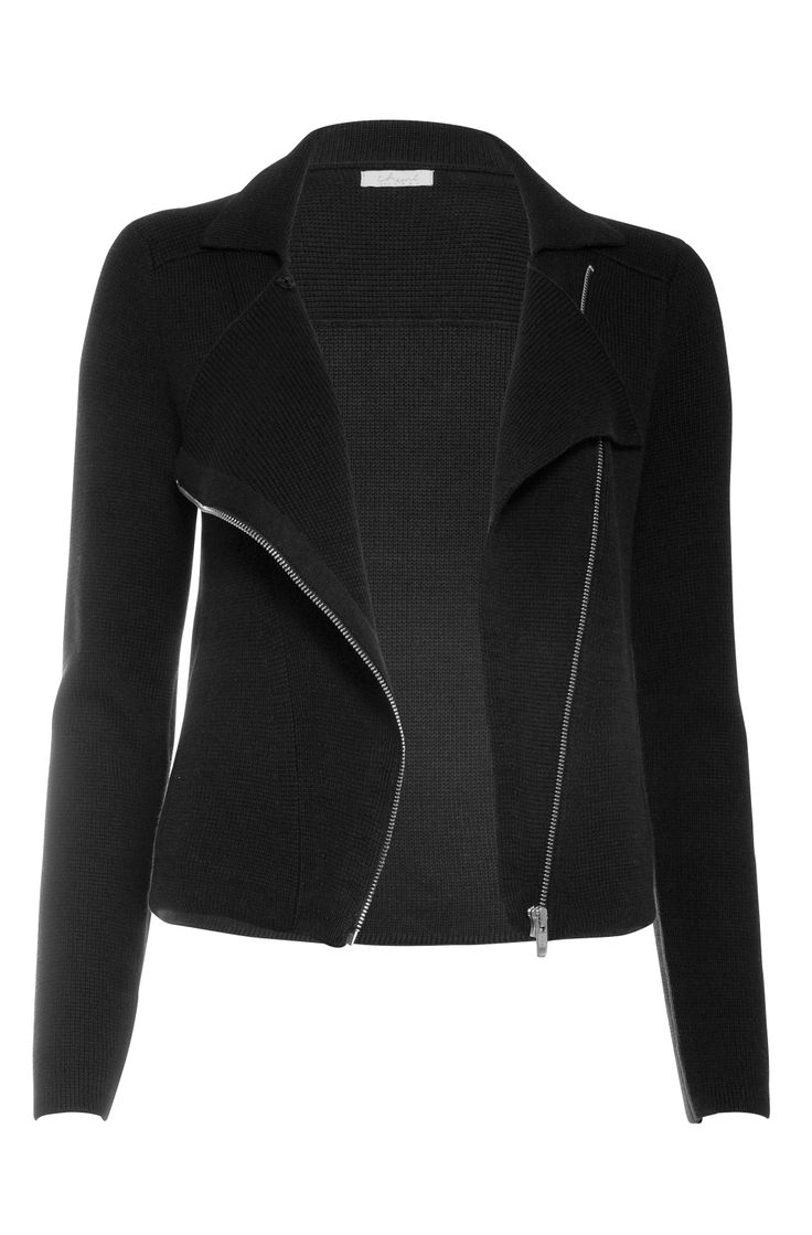 Knitted biker jacket. Available online: http://www.sofinah.fi/product/216/jacket-vivian-black