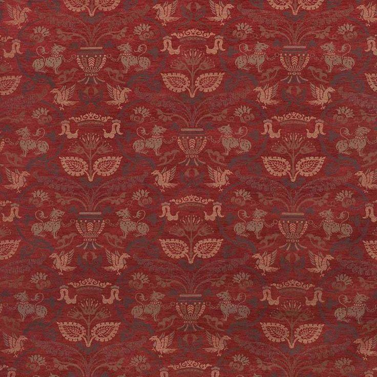 Warwick Fabrics : BAYEUX, Colour VINTAGE