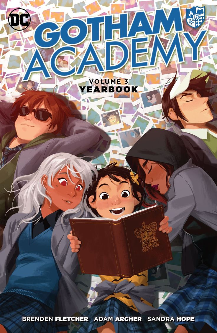 Gotham Academy (2014-) Vol. 3: Yearbook  They faced magic, monsters and mayhem—along with quizzes, crushes and dining-hall food—but Olive, Maps and the rest of the Academy gang survived their first term at Gotham City's most prestigious school. Now it's time to look back by putting together their yearbook. But it wouldn't be Gotham Academy if there weren't an all-new, untold adventure on every page!