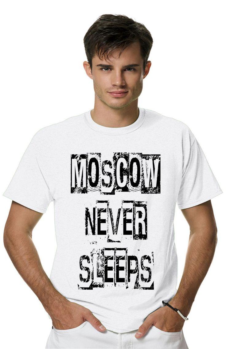 Футболка Moscow never sleepsиз коллекции SAVAGE пропитана настоящим духом свободы и стиля!Мужская футболка с прикольным принтом
