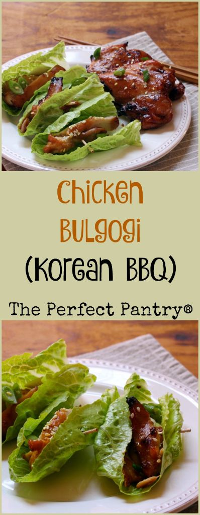 Chicken bulgogi (Korean barbecue), cooked in the oven or on the grill.