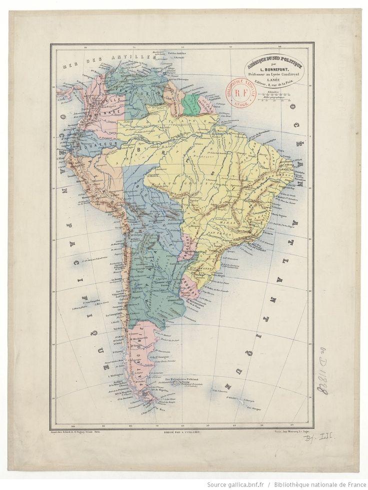 Amérique du Sud politique / par L. Bonnefont ; Dressée par A. Vuillemin