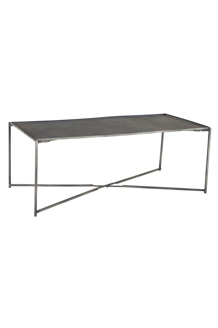 """2499 kr: Hopfällbart bord av metall i industriell design med matt yta. Stl 60x120 cm. Höjd 45 cm. Levereras omonterat. Vikt 19 kg. Läs om fraktavgiften under fliken """"Leverans""""."""