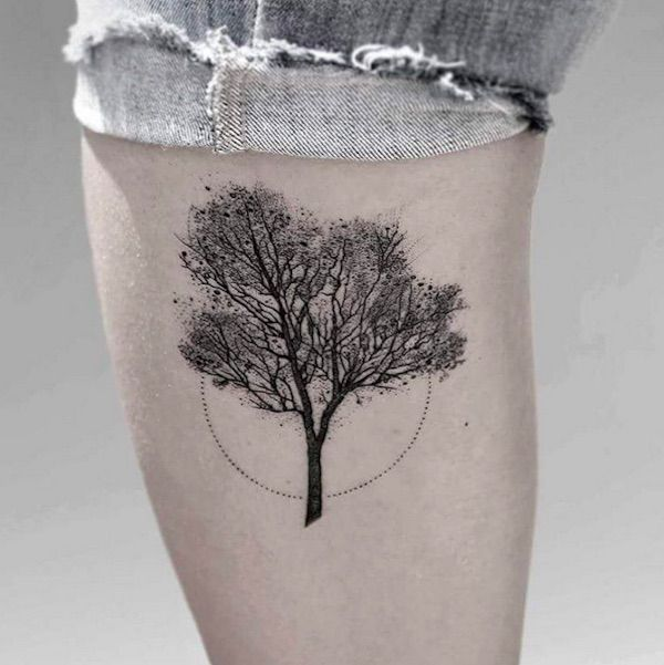 Gorgeous, Intricate Nature-Inspired Tattoos Created With Thousands Of Tiny Dots - DesignTAXI.com