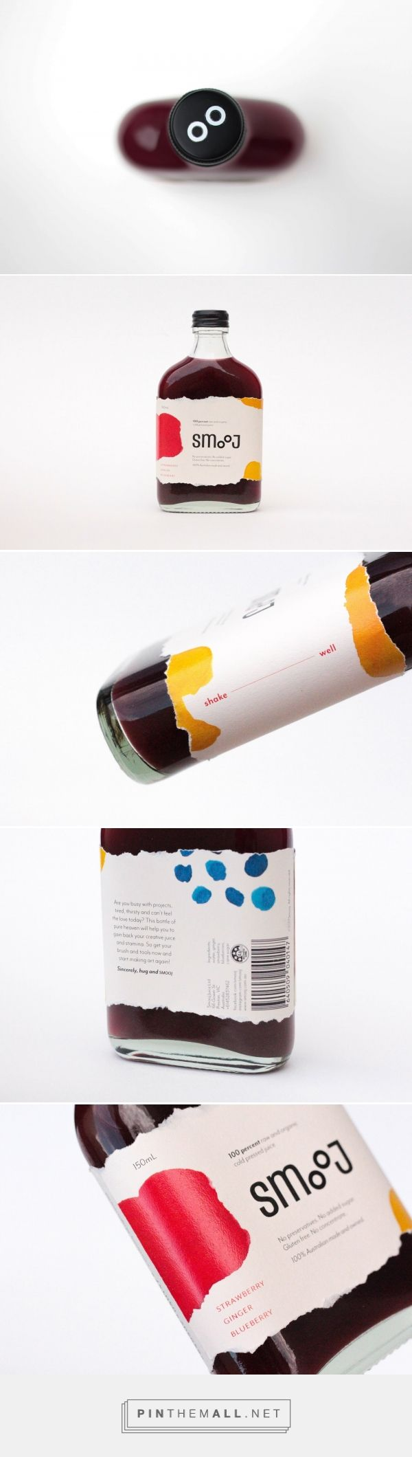 Smooj Cold Pressed Juice (Student Project) - Packaging of the World - Creative Package Design Gallery - http://www.packagingoftheworld.com/2017/08/smooj-cold-pressed-juice-student-project.html