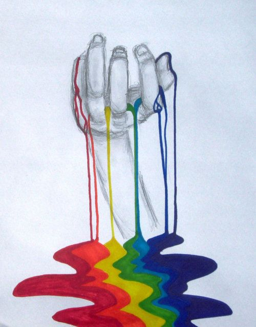 cool idea, but I'll do more detailed hands and water colors dripping down