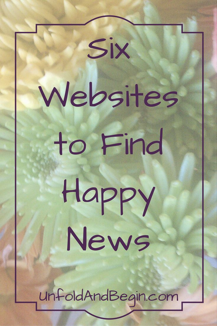 Tired of hearing the worst in the world? Go to these 6 websites to hear about the good in the world. UnfoldAndBegin.com via…