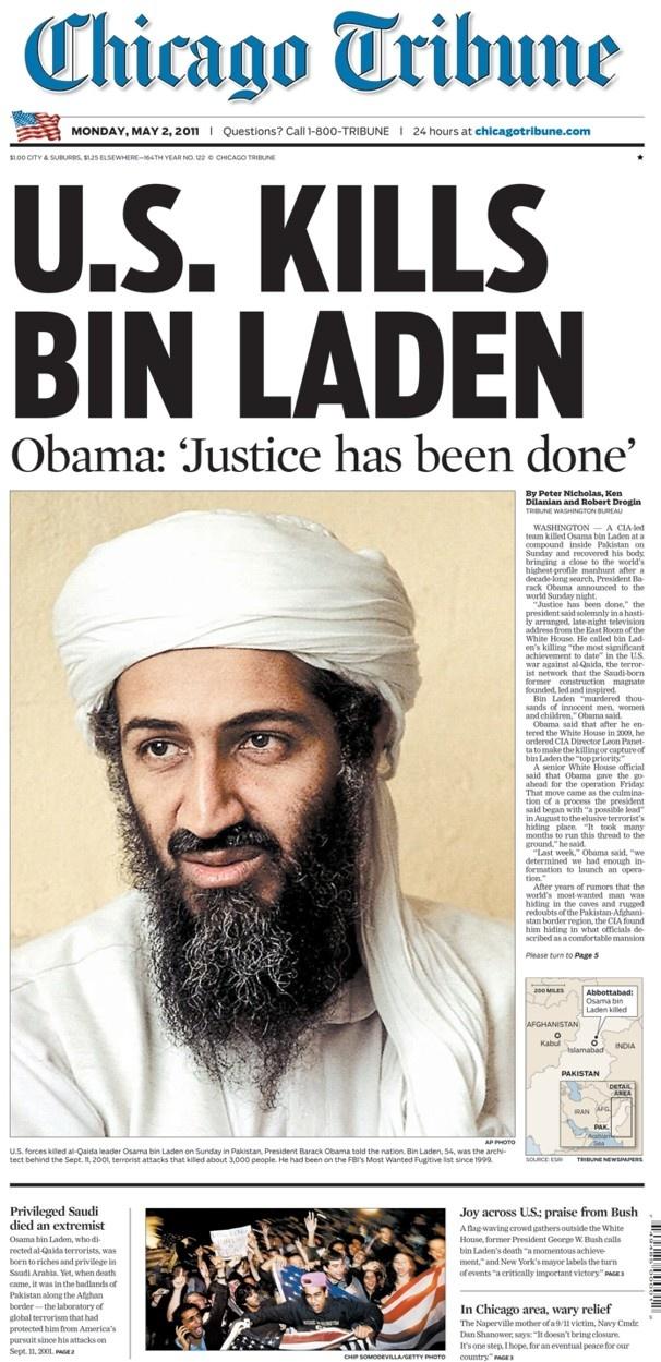 U.S. kills bin Laden, 2011.