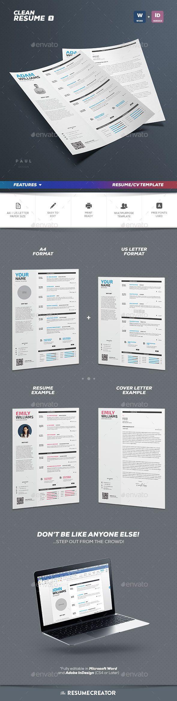 Clean Resume Vol1 1534 best Resume Design