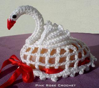 PINK ROSE CROCHET : Sachê Cisne de Crochê