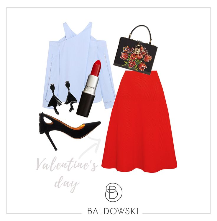Valentine's Day outfit inspiration by Baldowski #outfit #ootd #inspiration #red #romanticlook #designer #valentinesday