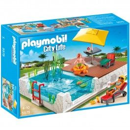 Piscine Avec Terrasse Playmobil City Life 5575 Little