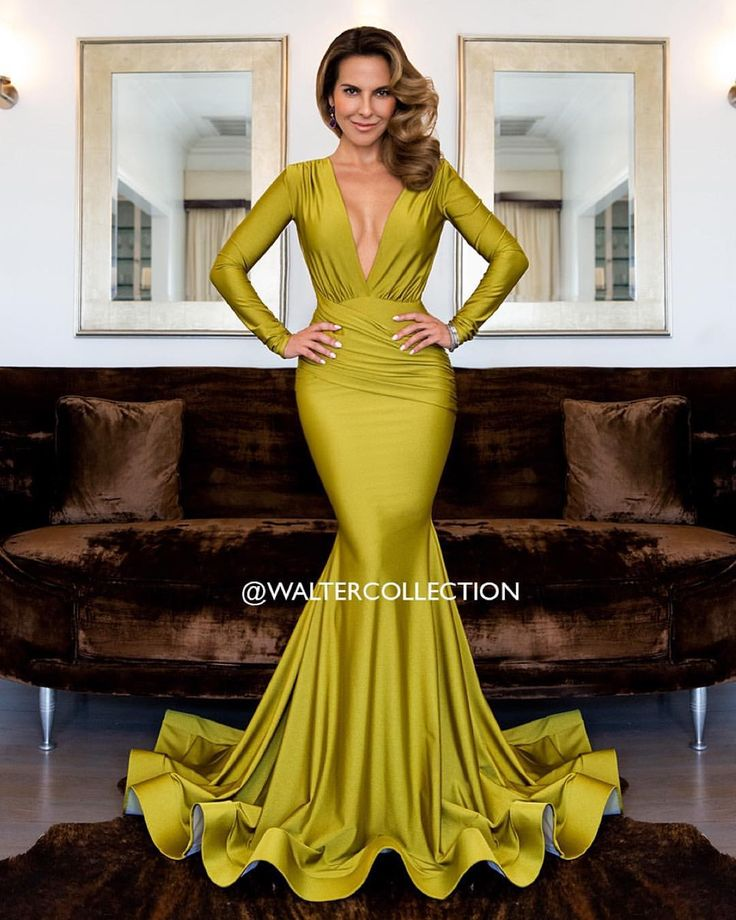 "Latin actress Kate Del Castillo wearing the #WalterMendez ""Olga"" gown. Shot by @xxfidelxx #waltercollection #los33 #editorial"