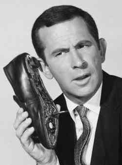 Don Adams (1923-2005) [Get Smart, tv] served with the U.S. Marine Corps during WW II in the Pacific. He was wounded during the Battle of Guadalcanal and he contracted malaria, nearly dying of blackwater fever. Upon his recovery and return to the States, he served as a drill instructor.