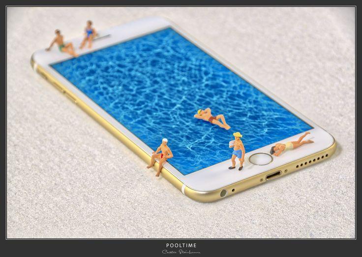 Pooltime - Miniaturfotografie   #miniaturfotografie #miniatur #miniaturwelten #smallworlds #kleinewelten #h0-figuren #smal-photographie #miniaturphotographie